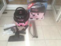 Numatic Hetty Pink vacuum cleaner, same as Henry as new boxed with full tool kit