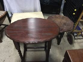 3 side tables for restoration shabby chic