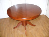 Big Round Wooden Dining Table. Very good clean condition.