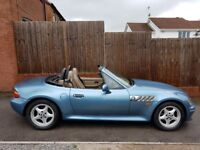 Stunning blue bmw z3 2.8i with a hardtop with the 2.8 straight six similar cars to slk mx5 tt