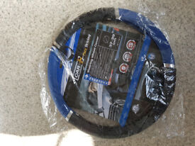 Blue Black Speed Design Wheel Cover - Steering Pvc