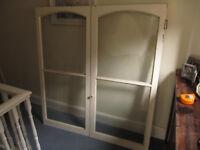 Victorian Dresser doors, glazed, with drawers