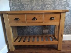 Beautiful Solid Oak Console Table by Willis and Gambier - immaculate condition, £150.