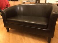 2 seater Faux leather sofa / office seating
