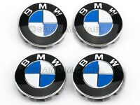 BMW ALLOY WHEEL CENTRE CAPS 68MM BRAND NEW SET x 4