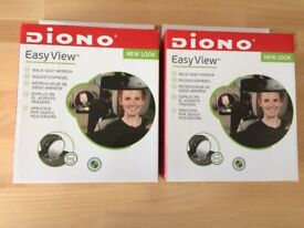 Diono Easy View Back Seat Car Mirror for Baby BNIB x2