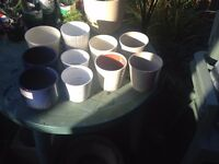 Collection of indoor plant pots