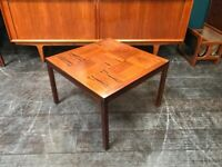 SAFE DELIVERY AVAILABLE- Rosewood Coffee Table by Heggen. Vintage Scandinavian Mid Century