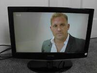 Flatscreen TV with remote