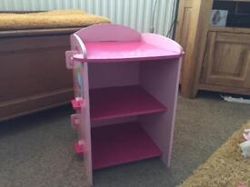 Upsy Daisy wooden ottoman and shelving unit. Price is for both