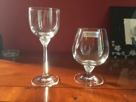 Villeroy and boch crystal glasses ( 7 brandy and 4 liqueur )