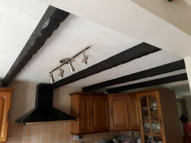 Oldie World real wood ceiling beams