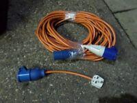 Caravan mains hook up cable