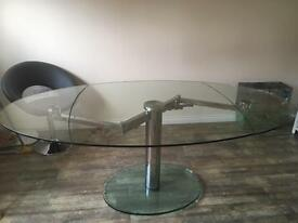 Dwell extending glass dining table RRP £1099
