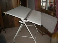 Drawing board AO size with parrarel motion on stand
