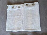 Dunelm Eyelet Beige Fleck Basketweave curtains - W168cm x D137cm