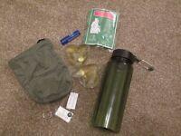 Walking kit - bottle , compass etc - brand new