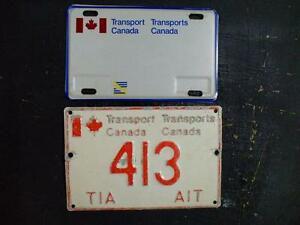 Plaque immatriculation license plate Transport Canada et autres