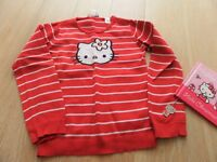 6 items HELLO KITTY jumper age 7-8, 2 money boxes,new picture frame,new book, silver kitty necklace