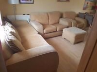 Beige Cream - Comfortable and Great Quality - 3 Seater, 2 Seater and 1 Seater