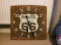 Vintage look Route 66 clock