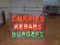 Neon Catering sign