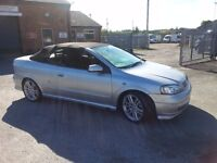 Vauxhall Astra Convertible Berton 1.8 Petrol 2002 MOT Till March 2017 Good Condition P/X WELCOME