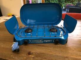 Camping stove, twin burner, campingaz