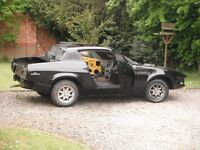 triumph tr7 restoration project, starts well, new carpet and roof lining