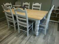 Sumptuous 6ft Shabby Chic table set