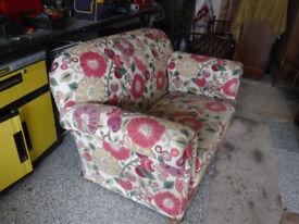 Virctorian Drop end sofa - Sandersons fabric