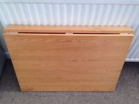 Wall Fixed only, Drop leaf table, solid pine wood, clean VGC.