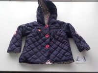 Very good condition jackets and snowsuits for girl.