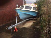 Shetland 535 boat and trailer