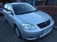 toyota corolla d4d diesel one previous owner, warranted millage
