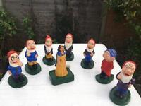 Garden Gnomes - Vintage Snow White and the Severn Dwarfs