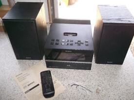 Sony CMD-BX77DBI DAB/FM CD/MP3 Shelf System With Speakers & REMOTE