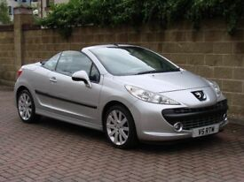 FINANCE AVAILABLE!! 2008 PEUGEOT 207 CC 1.6 16v GT 2dr CONVERTIBLE, ONLY 53000 MILES, LONG MOT