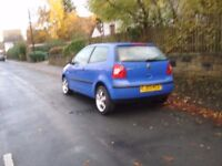VOLKSWAGEN POLO 1.2 2003 03 PLATE MOT MAY 2018 DRIVES GREAT