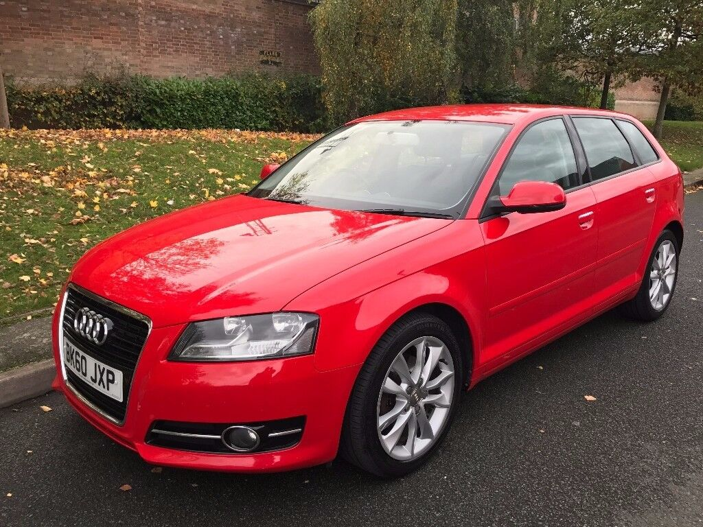 2010 red audi a3 2 0 tdi sport sportback 5dr hatchback manual diesel p x welcome in hall. Black Bedroom Furniture Sets. Home Design Ideas