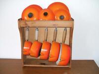 Le Creuset cast iron 5 pan set (flame orange)