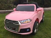 Audi Q7 style electric 12v ride on car with parental control PINK(NEW)