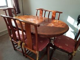 Dinner table/chairs, Wardrobe, Chests of drawers, Glass table, Coffee tables, Study desks, Chairs