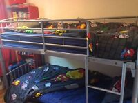 Silver/grey metal bunk bed frame only