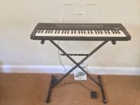 Casio Touch Response Keyboard ,Adjustable Stand ,Sustain Pedal,Manual ,Music stand