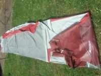 Awning for 14ft caravan with zip in sleeping annex