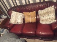 3 piece suite chesterfield ox blood style