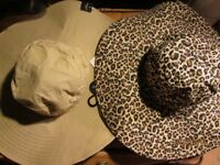 REVERSIBLE QUEEN OF THE JUNGLE LARGE BRIMMED HAT NEW GREAT FOR FANCY DRESS