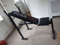 York weights bench. Exercise gym bench.