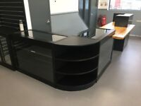 Stunning Full Shop Counter / Showroom Counter / Lockable Glass Display & Shelving Units